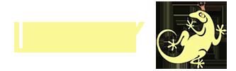 LYUDY логотип с ящерицей
